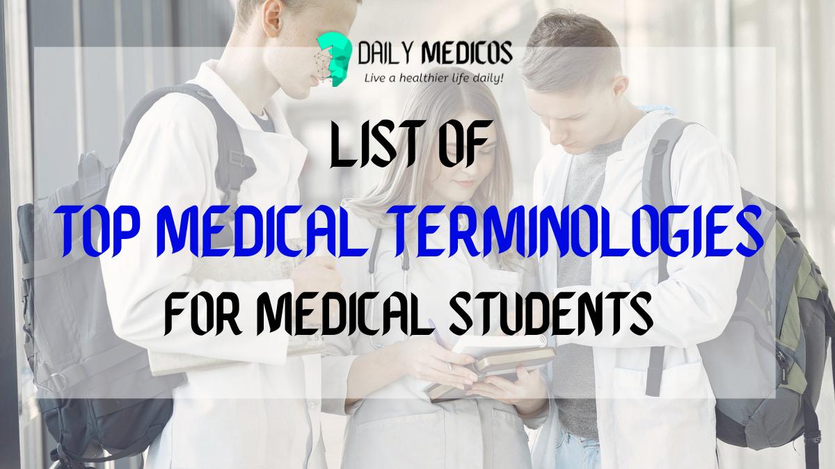 List of Top Medical Terminology PDF