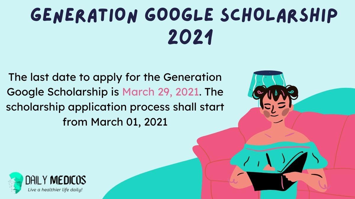 Generation Google Scholarship 2021 For Pakistani Students 1 - Daily Medicos