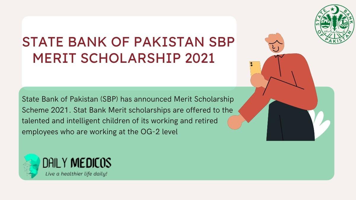 State Bank of Pakistan SBP Merit Scholarship 2021 1 - Daily Medicos