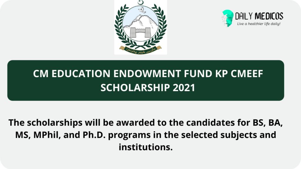 CM Education Endowment Fund KP CMEEF Scholarship 2021 4 - Daily Medicos