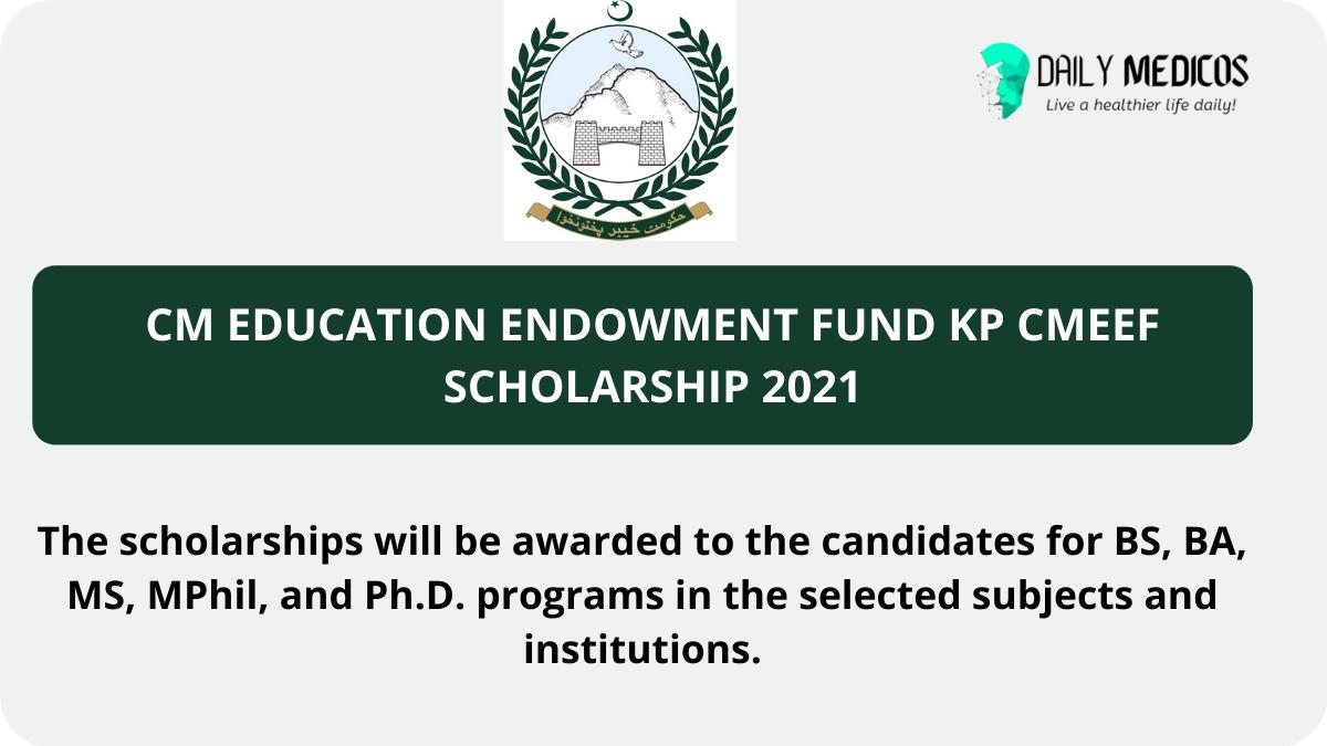 CM Education Endowment Fund KP CMEEF Scholarship 2021
