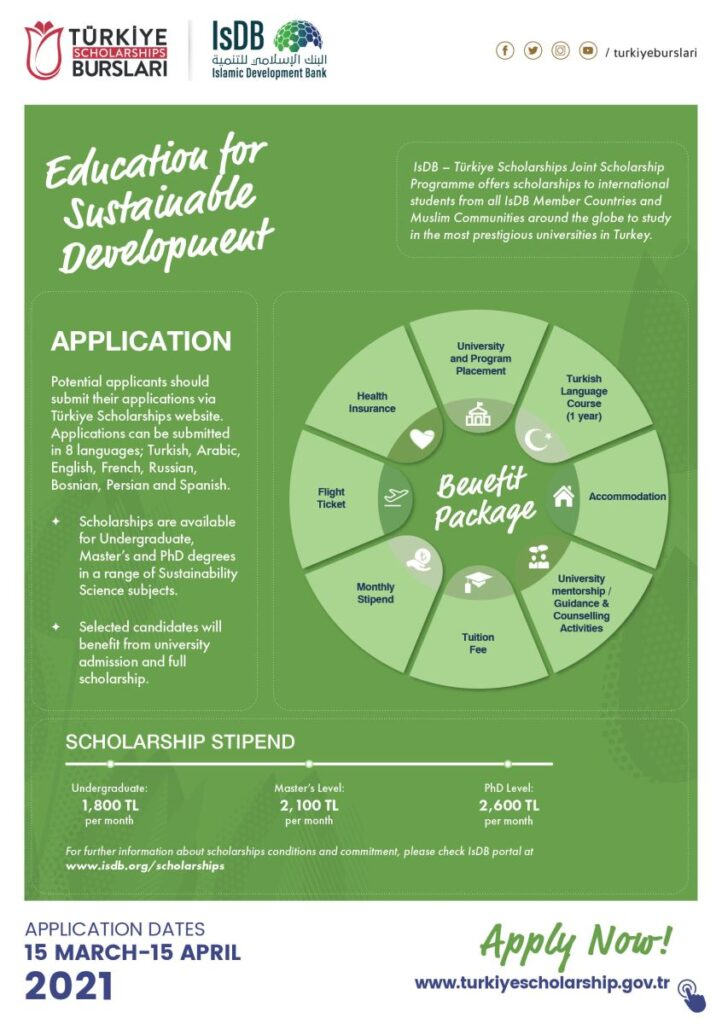 IsDB Turkey Scholarships 2021-22   Fully Funded   Study in Turkey 2 - Daily Medicos